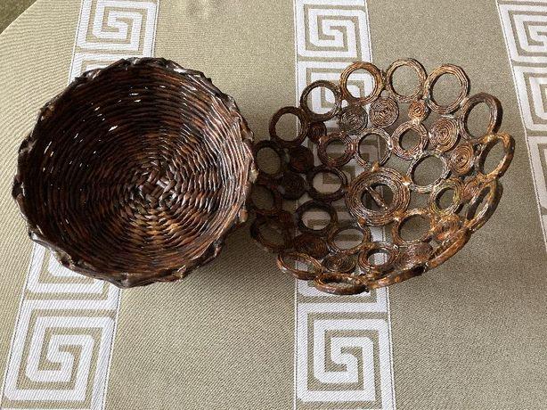 Koszyczek pojemnik misa na owoce z wikliny