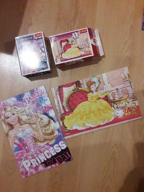 2x 54 puzzle mini, barbie,