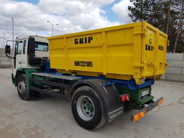 Wywóz odpadów budowlanych, gruzu, kontener Kp5 i Kp7