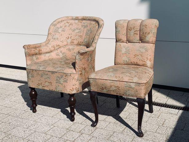 Fotelik tapicerowany + krzesło