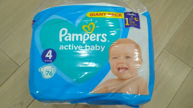 Підгузки Pampers active baby 4 (76шт)