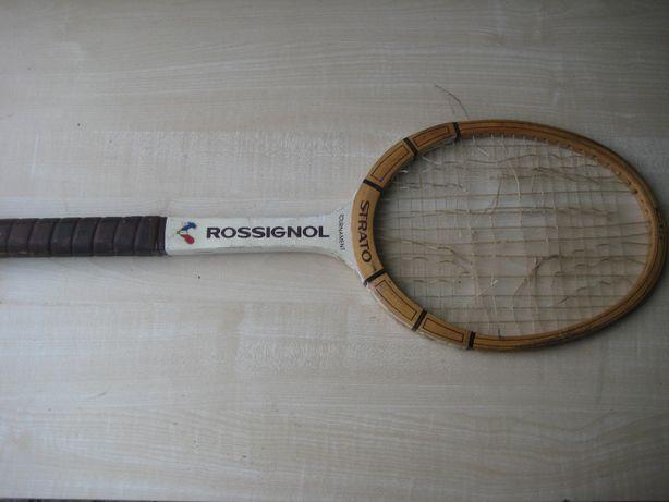 "Stara rakieta tenisowa ""Rossignol"""