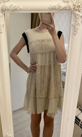 Кремовое платье TwinSet