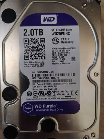 Hdd 2.0Tb (wd20purx)