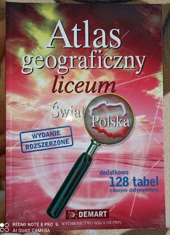 Atlas geograficzny liceum wyd. rozszerzone Świat i Polska
