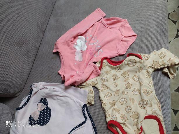 Paka ubranek dla dziewczynki roz. 68, 74