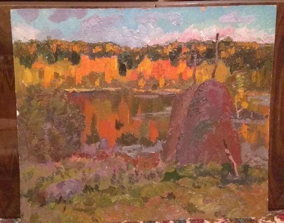 картина осенний пейзаж с озером (хивренко в.и.)