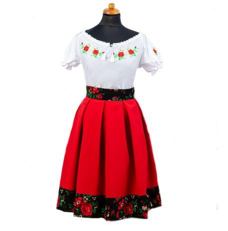 K-01 Strój folkowy ludowy góralski spódnica + bluzka Koło Gospodyń