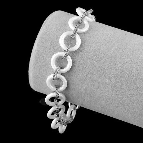 Керамический браслет с нержавеющей сталью