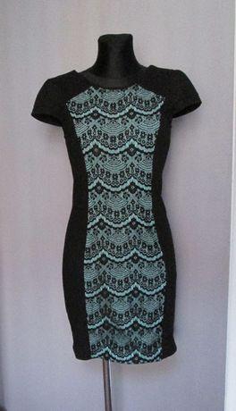 Cudna sukienka kornka czerń zieleń r. 38