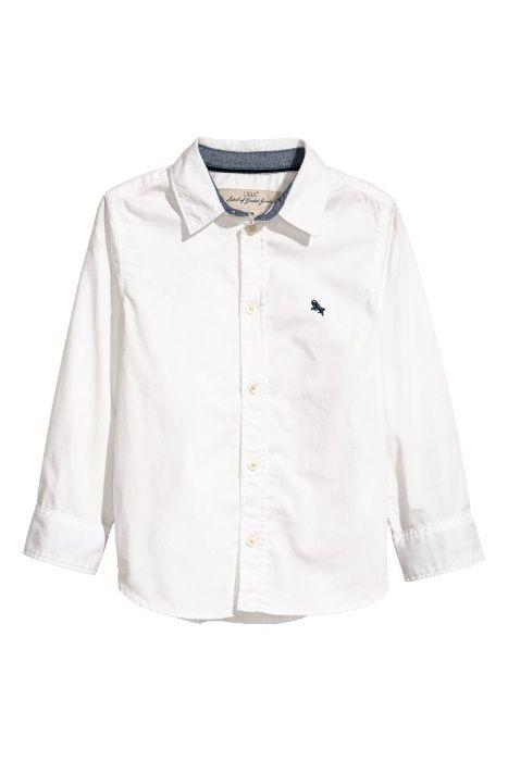 Белая рубашка с длинным рукавом H&M на 6-7 лет Днепр - изображение 1