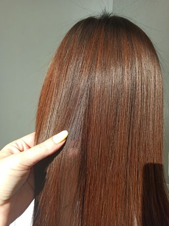 Кератиновое выпрямление волос. Скидки -50% для пополнения портфолио