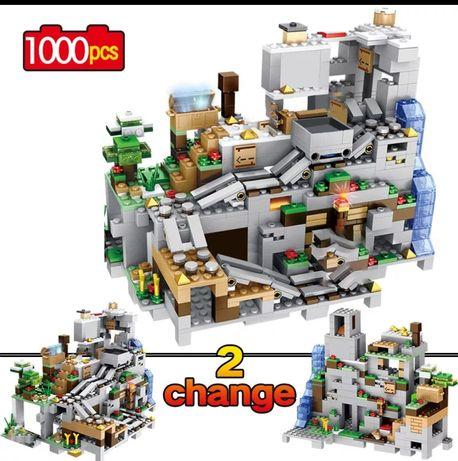 Nowe klocki MINECRAFT JASKINIA 1000 elementow, kompatybilne z LEGO
