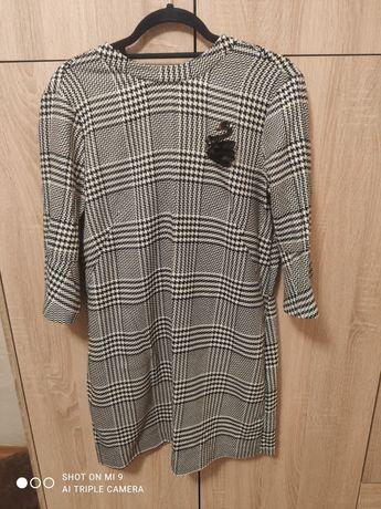 Sukienka Hm kratka biało czarna mini