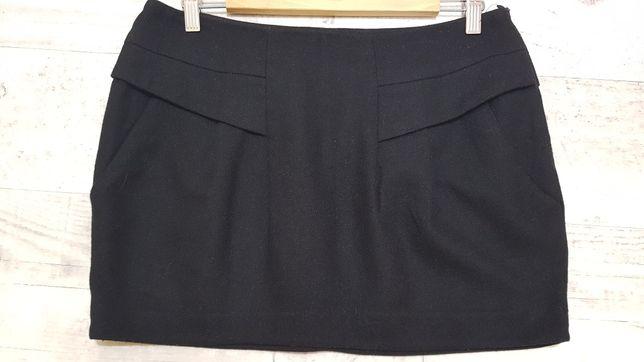 Spódnica wełniana Reserved czarna 38