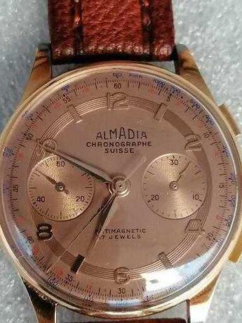 Maravilhoso relógio de ouro de 18 kl