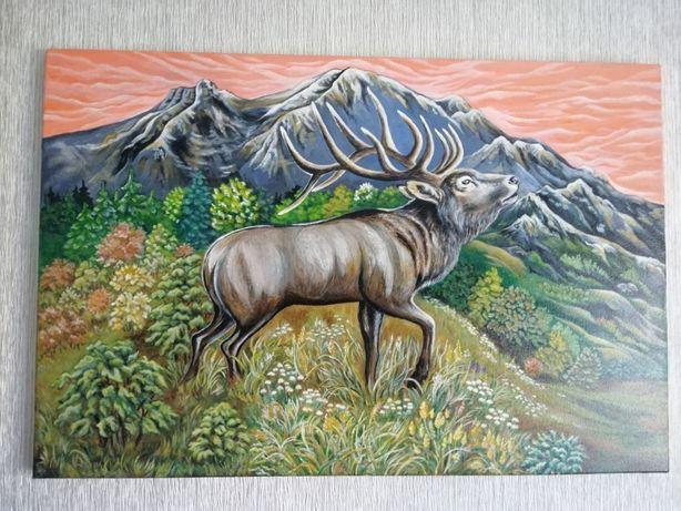 Картина Олень в горах купить картину на подарок жми