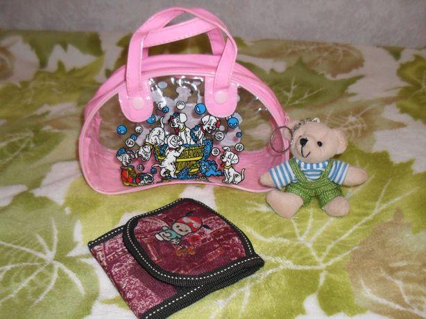 НОВАЯ сумка кошелек брелок мишка мягкая игрушка сумочка