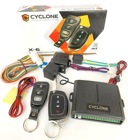 Сигнализация для авто Cyclone X6 брелок с выкидным ключом
