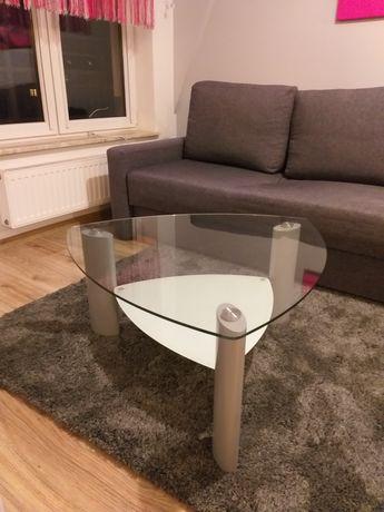 Stolik kawowy ława szklana 80x80