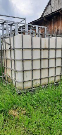 Zbiornik mauzer 1000l czysta woda