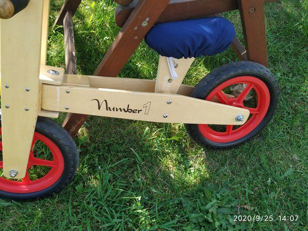 Drewniany rowerek biegowy numer 1 super