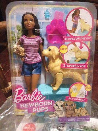 Barbie с собакой с новорожденными щенками, оригинал