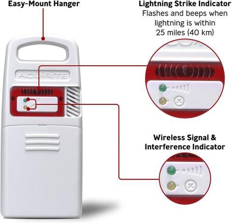 Detector de raios Acurite 06045M com Sensor Humedade e Temperatura