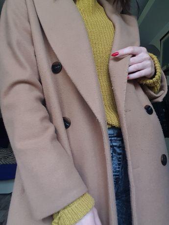 Пальто длинное нюд