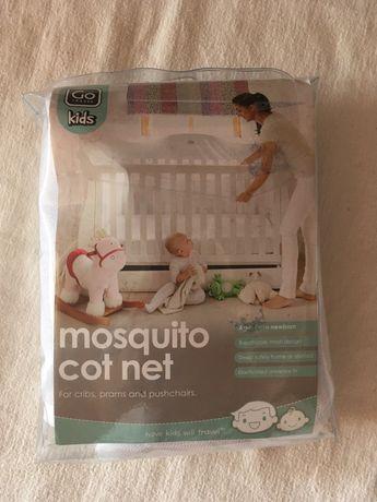 На детскую кроватку москитная сетка новая