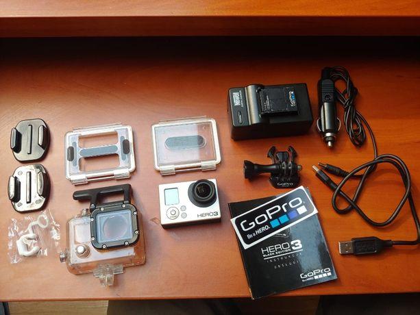 Kamera GOPRO Hero 3 Black Edition zestaw z ładowarką i uchwytami