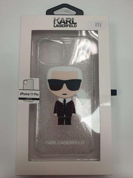 Etui KARL LAGERFELD iPhone 11 Pro Iconic Karl (Silver Glitter) KLHCN58