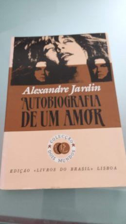"""Livro """"Autobiografia de um amor"""" de Alexandre Jardin"""