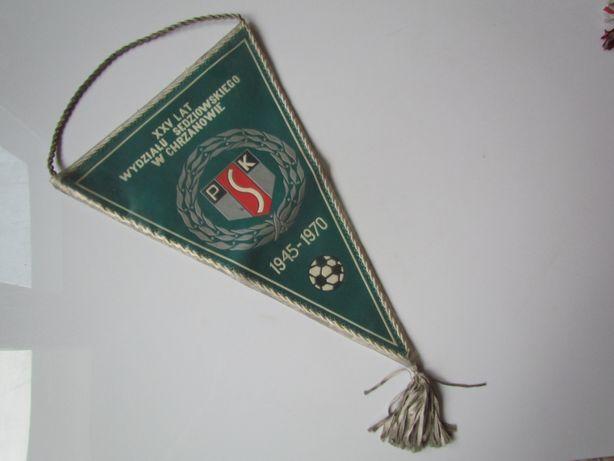 Proporczyk 25 lat Wydział Sędziowski Chrzanów 1970 Flaga Polski DUŻY