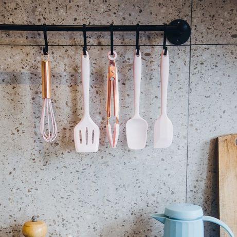 Силиконовый кухонный набор принадлежностей 5 предметов Розовое золото