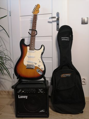 Gitara elektryczna z pokrowcem