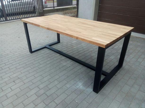 Stół industrialny loft dębowy 2000x1000