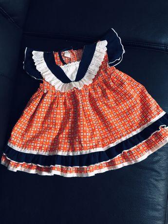 Sukienka na dożynki dla dziewczynki rozmiar 80