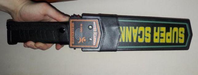 Металлоискатель металошукач металлодетектор досмотровый SUPER SCANNER