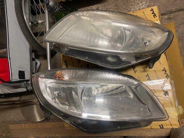 Lampy przód / przednie reflektory Skoda Praktik Roomster Fabia II