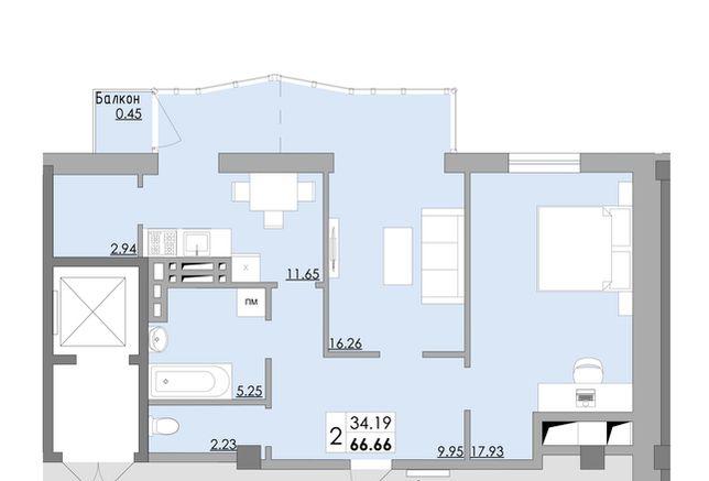Супер планировка в новом доме на Затонского 28