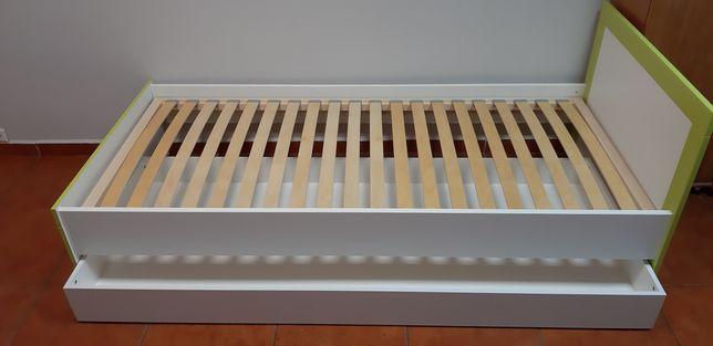 Łóżko 90x200 ze stelażem