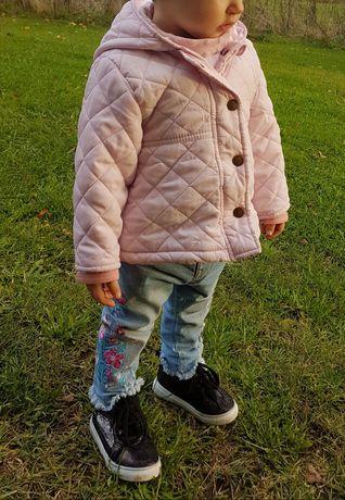 Kurtka jesienna różowa dziecięca rozmiar 80