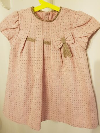 Wysylka 1 zł do 4.12 Sukienka Mayoral Chic 92 cm różowa święta chrzest