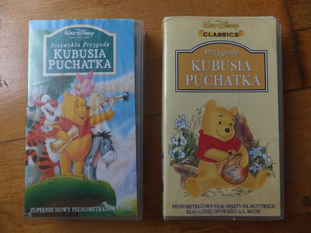 Kasety VHS Kubuś Puchatek filmy pełnometrażowe oryginalne Disney