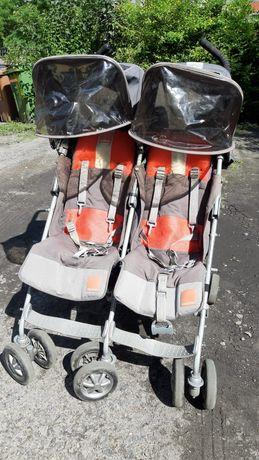 Wózek bliźniaczy parasolka spacerówka Maclaren