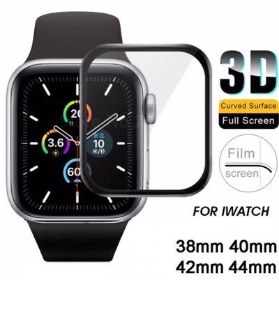 Защитное 3D стекло для Apple Watch 6,5,4,3,2,1/44,42,40,38 Эппл вотч