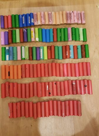 baterie, ogniwa 18650, 133 sztuki, nietetowane
