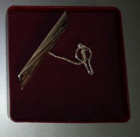 Srebrna spinka do krawata próba 925
