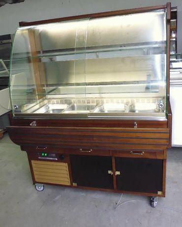 Expositor refrigerado para saladas ou sobremesas